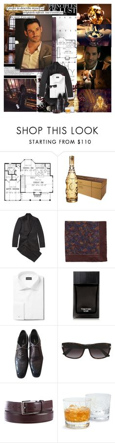"""""""take me to church. i'll worship like a dog at the shrine of your lies. i'll tell you my sins and you can sharpen your knife. offer me that deathless death. good god, let me give you my life."""" by e-m-m-d ❤ liked on Polyvore featuring Tom Ford, Salvatore Ferragamo, Schott Zwiesel, men's fashion and menswear"""