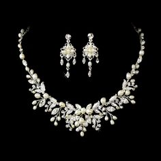 Freshwater Pearl Couture Jewelry Set   Serendipity Tiaras