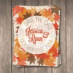 Fall Save the Date #leave #fall #wedding