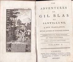 [Alain-René Lesage] The Adventures of Gil Blas of Santillane. A New Translation by the Author of Roderick Random [Tobias Smollett]. The sixth edition. In four volumes. Volume III. London, Printed for W. Strahan, J. Rifington, T. Davies, etc., London, 1785