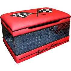 Race car toy chest