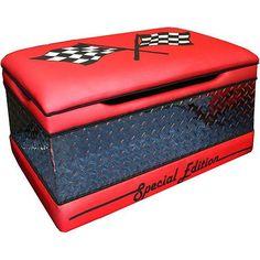 Race car toy chest