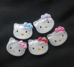 30pcs Mix Color 26MM Hello Kitty W/ Bow Resin Flatbacks Scrapbooking Craft B148