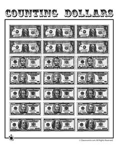 It's just a picture of Epic Printable Play Money Black and White Pdf