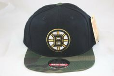 Boston Bruins Retro Logo Embroidered Flat Billed Snapback Cap with Camouflage Print by American Needle American Needle. Save 17 Off!. $25.00