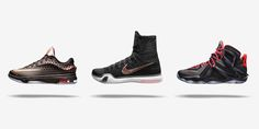 """nike basketball elite series - rose gold collection""  #nike   #nikebasketball   #basketball   #lebronjames   #kevindurant   #kobebryant   #lebron12   #kd7   #kobex   #rosegold"