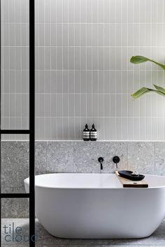 Bathroom Renos, Laundry In Bathroom, Bathroom Flooring, Bathroom Renovations, Washroom, Bathroom Design Luxury, Modern Bathroom, Small Bathroom, Grey Bathroom Tiles