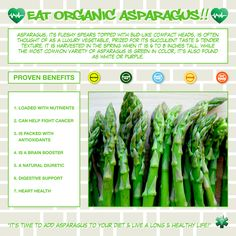 Asparagus each day keeps the doc away. Eating asparagus is delicious and super healthy. It was known in ancient times as an aphrodisiac. It's true that after you eat asparagus your pee smells. This is caused by the breakdown of the vegetables sulfurous amino acids causing smelly urine. So if your urine smells after consuming, rest assured, you are normal!! #asparagus #eatasparagus #organicasparagus #organic #vegetable #fatfree #vegan #glutenfree #healthy #superhealthy #supervegetable…