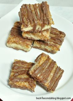 Samoas Bars -Just like the Girl Scout cookie. Read more at http://backforsecondsblog.com @Megan Ward Murphy