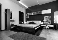 decoração-quarto preto e branco