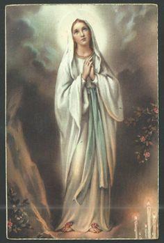 POSTAL antigua Virgen de Lourdes andachtsbild santino holy card santini - EUR 5,00. Postal antigua Virgen de Lourdes. 371861290027