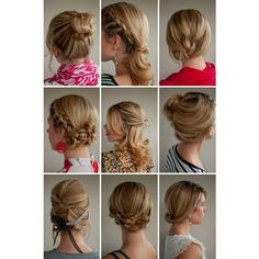 Updos for medium length hair ❤ liked on Polyvore