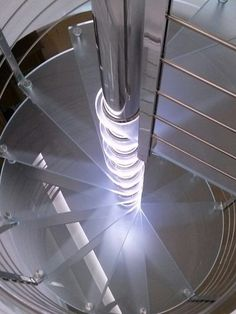 Scala a Chiocciola Reflex Glass Led -