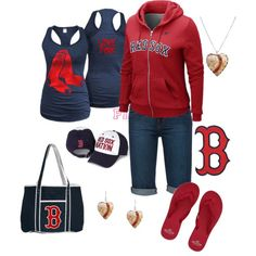 """Boston Red Sox"" by srose38 on Polyvore"
