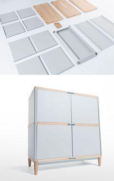 Benjamin Vermeulen's Flatpack Magnetic Assisted Geometry Furniture.