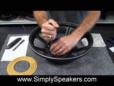 JBL Speaker 2226 Recone Repair Subwoofer (+playlist)