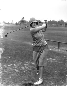 Maureen Orcutt was a women's golf champion and second female sports reporter for the New York Times (ca. 1920). | Florida Memory