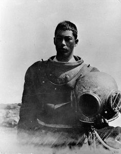 White's Point Japanese abalone diver, San Pedro, California. by Palos Verdes Local History, via Flickr