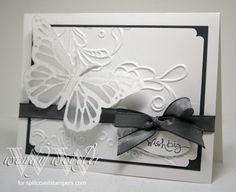 Wickedly Wonderful Creations: Butterfly Flutterby ... Elegant Lines Embossing Folder