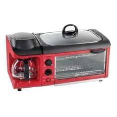Nostalgia Electrics, Retro Series 3-in-1 Breakfast Station, BSET300RETRORED at The Home Depot - Mobile