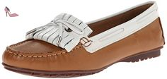 Sebago  Meriden Kiltie, Mocassins (loafers) femme - marron - Tan/White Leather, 42 EU B(M) - Chaussures sebago (*Partner-Link)