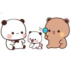 Cute Love Images, Cute Love Gif, Chibi Cat, Cute Chibi, Cute Bunny Cartoon, Bear Gif, Cute Cat Illustration, Little Panda, Bear Wallpaper