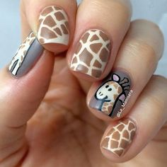 101 Classy Nail Art Designs for Short Nails Animal Nail Art Animal Nail Designs, Animal Nail Art, Best Nail Art Designs, Short Nail Designs, Classy Nail Designs, Animal Design, Classy Nail Art, Cute Nail Art, Cute Nails