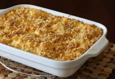 This delicious potato casserole, a hash brown casserole, is perfect for a large dinner or potluck. Far from light, it is a delicious side dish.