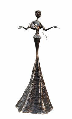 Lucie - 72 cm - Sculpture en bronze, pièce unique