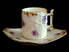 KPM (Berlin,Germany) — Victorian Cup and Saucer, Late 1800 Coffee Time, Tea Time, Empty Cup, China Patterns, Porcelain Ceramics, Tea Cup Saucer, Teacups, Bone China, Tea Party