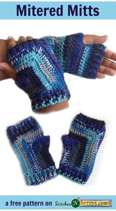 Mitered Mitts Free Crochet Pattern