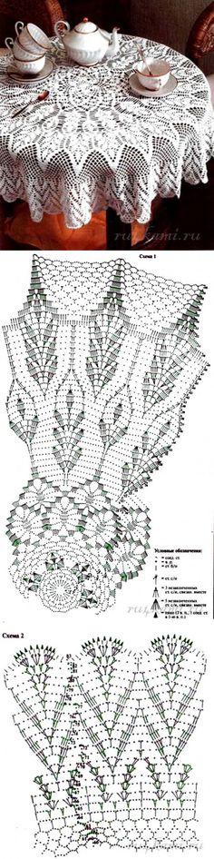 Красивая скатерть на стол » Сайт 'Ручками' - делаем вещи своими руками