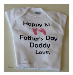Personalized Happy 1st Father's Day Onesie by PaperKraftsUnlimited