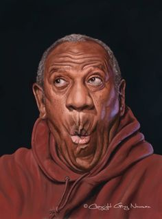 """Bill Cosby """"pudding pops"""" illustration painted in By Greg Newman Bill Cosby, Cartoon Faces, Funny Faces, Cartoon Art, Funny Caricatures, Celebrity Caricatures, African American Art, Illustrations, Funny Art"""