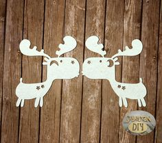 "Laser Cut Chipboard ""Love moose"" by SiberianDIYcraftsArt on Etsy"