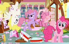 Pinkie Pie Generations The aging of Pinkamina Diane Pie then and now :)