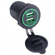 USB зарядка на 2 порта в автомобиль (встраиваемая USB розетка)