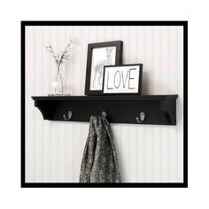 Black-Wall-Shelf-Mounted-Storage-Hanging-Display-Hooks-Rack-Decorative-Shelving