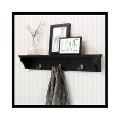 Black-Wall-Shelf-Mounted-Storage-Hanging-Display-Hooks-Rack-Decorative-Shelving