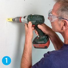 Drill a hole centered on your desired location