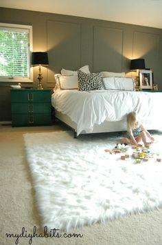 my{DIY}habits: Master Bedroom Rug Bedroom Green, Modern Bedroom, Master Bedroom, Bedroom Furniture, Bedroom Decor, Bedroom Ideas, Loft, Simple House, My New Room
