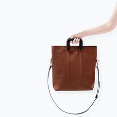 ZARA - TRF - SHOPPER BAG WITH SQUARE HANDLE