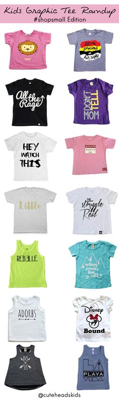 The Most-Wanted a Graphic Tees for Toddlers this Summer, curated by @cuteheads / http://blog.cuteheads.com #summer