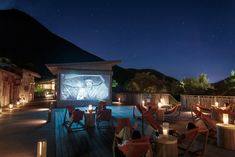 Movies under the stars are shown twice weekly by the Marketplace at Six Senses Con Dao.