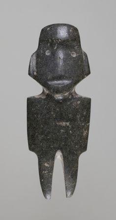 Standing figure - Formative, Mezcala - Guerrero, Mexico, 1500–500 B.C. - Stone | Princeton University Art Museum