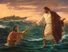 Jesus Walking on Water by Robert T. Barrett