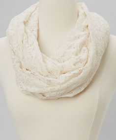Ivory Lace Infinity Scarf