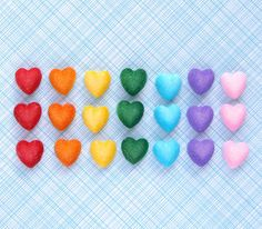 Little Heart Rainbow Sugar Decorations for Cupcake and Cake Decorating