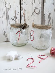 Schraubgläser Upcycling inkl. Anleitung / Screw-top jars upcycled incl. tutorial