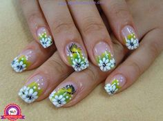 The rose nail art design is very classy